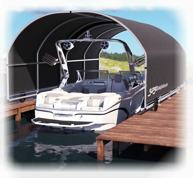 SlipSki Boat Dock Cover - SlipSki Boating Solutions