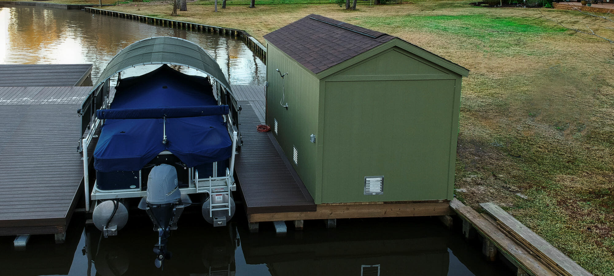 Lake Conroe Boat Dock Covers | Boat Slip Covers | SlipSki Solutions