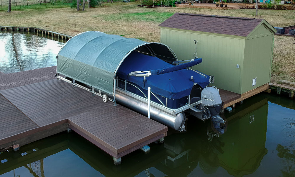 SlipSki Boat Dock Covers | Boat Dock Awnings For Sale