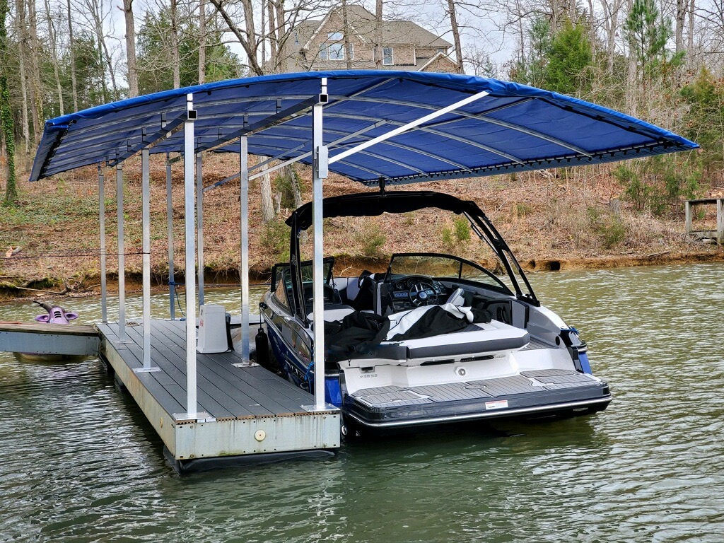 L Shaped Boat Dock Cover